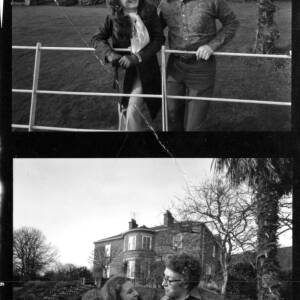 A contact sheet - Giles Bulmer with fiancee.