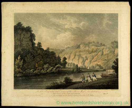 View of the Doward Rock, print