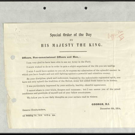 War Diary (2) for Royal City of London Rifles - Kings Inspection