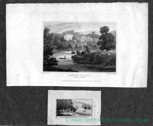 Sufton Court, Mordiford, Herefordshire, 2 prints