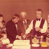 Photograph - Gaiety Whirl 1979 - Johnny Beattie; Leslie Popplewell; Bernard Cotton; Vida Cotton; Mrs Leslie Popplewell; Simon Cotton
