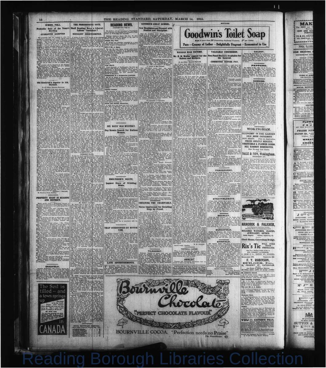 Reading Standard, Saturday, March 14, 1914. Pg 10
