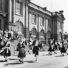 Folk Dancing Outside Town Hall