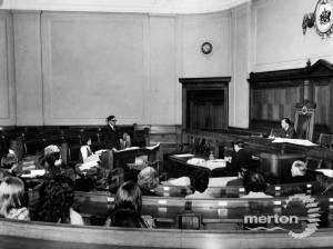 Wimbledon Town Hall:Merton Council Chamber