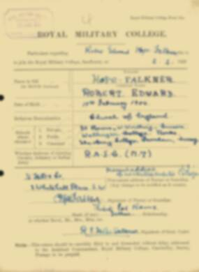RMC Form 18A Personal Detail Sheets Feb & Sept 1922 Intake - page 70