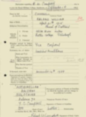 RMC Form 18A Personal Detail Sheets Feb & Sept 1933 Intake - page 166