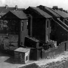 Bomb damage to Ellesmere Street from Studley Bridge