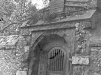 Station Road, Colliers Wood: Old Priory doorway