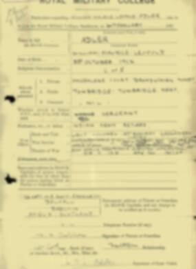 RMC Form 18A Personal Detail Sheets Jan & Aug 1931 Intake - page 3