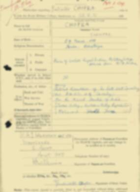 RMC Form 18A Personal Detail Sheets Feb & Sept 1933 Intake - page 29