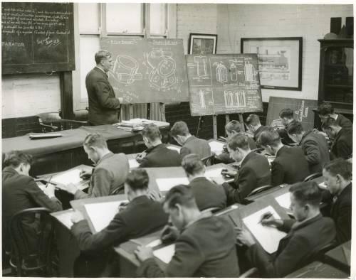 Apprentices and teacher