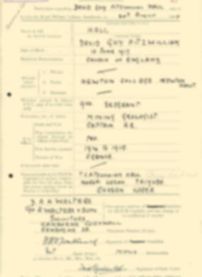 RMC Form 18A Personal Detail Sheets Aug 1935 Intake - page 91