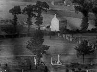 View from tower of Mitcham Parish Church