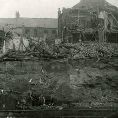 Bomb   Damage at Harton Colliery Railway