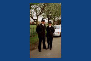 Local police on the beat in the Cricket Green area of Mitcham