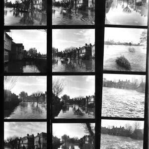 Contact sheet - floods in Hereford.