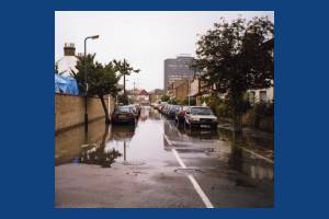 Flooding in Park Road, Colliers Wood