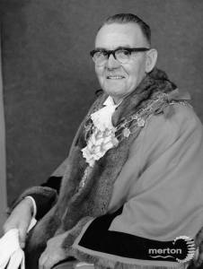Councillor W H Sanderson, Mayor of Mitcham (1963-64)
