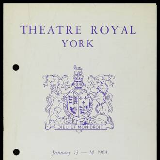 Theatre Royal, York, January 1964
