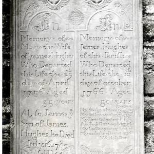 Llanvihangel Crucorney, Tombstone of J Hughes