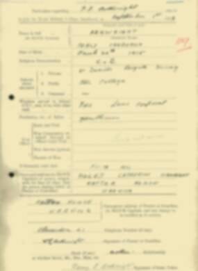 RMC Form 18A Personal Detail Sheets Feb & Sept 1933 Intake - page 154