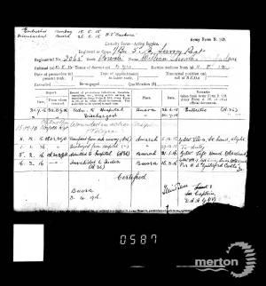 Casualty Record 1 - William Thomas MacFarlane