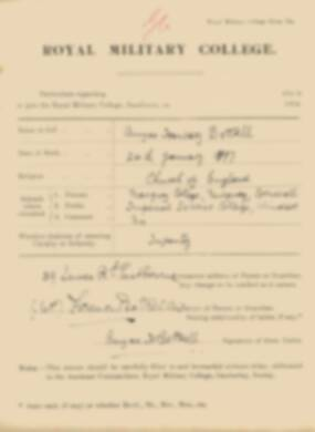 RMC Form 18A Personal Detail Sheets Jan 1915 Intake - page 37