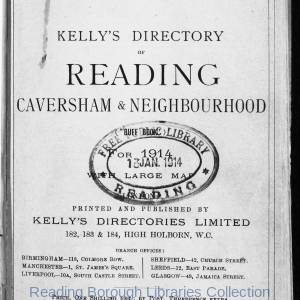 Kelly's Directory of Reading 1914