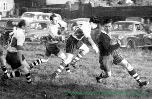 Hereford Rugby Club in action, 1950s.