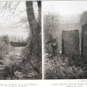 Castle Brook, two pictures by A Watkins FRPS
