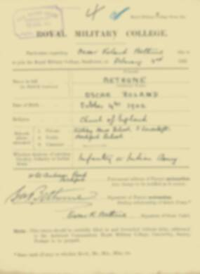 RMC Form 18A Personal Detail Sheets Feb & Sept 1921 Intake - page 12