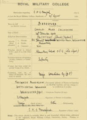 RMC Form 18A Personal Detail Sheets Feb & Aug 1924 Intake - page 11