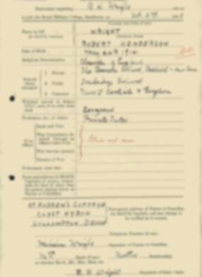 RMC Form 18A Personal Detail Sheets Feb & Sept 1933 Intake - page 151