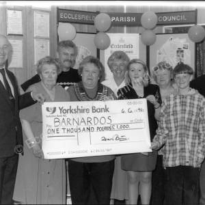 E.P.C. Handing over a Cheque to Barnardos 06.06.96
