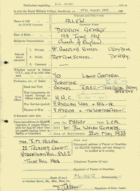 RMC Form 18A Personal Detail Sheets Aug 1935 Intake - page 3