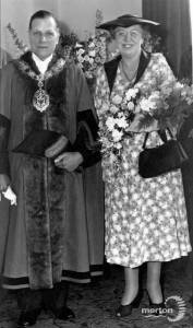 Alderman and Mrs.Withall, Mayor and Mayoress of Wimbledon