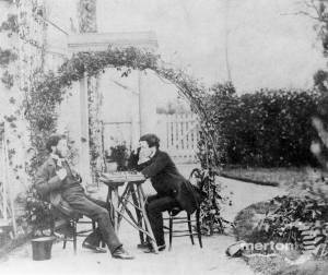 Middleton and Edward Rayne Jnr playing chess
