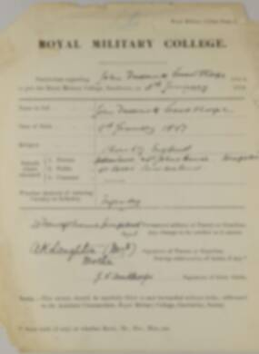 RMC Form 18A Personal Detail Sheets Jan 1915 Intake - page 384