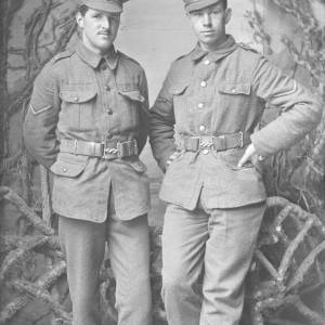 Two soldiers, portrait