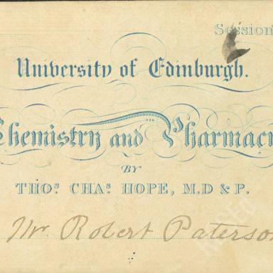 Chemistry & Pharmacy