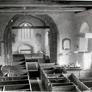 St Clydawg's Church, chancel looking east