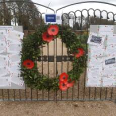 2020 November Remembrance Display in the Kitchen Garden of Houghton Hall Park Houghton Regis