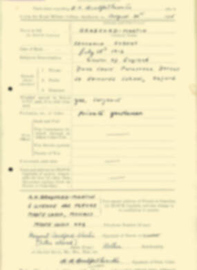 RMC Form 18A Personal Detail Sheets Aug 1935 Intake - page 27