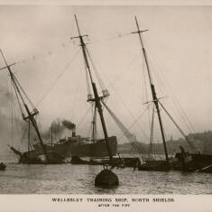 Wellesley Training Ship, North Shields  After the Fire