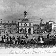 Engraving of the Market Place, South Shields