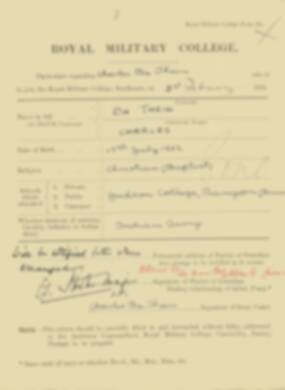 RMC Form 18A Personal Detail Sheets Feb & Sept 1921 Intake - page 7