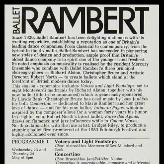 Gaumont Theatre, Southampton, May 1984
