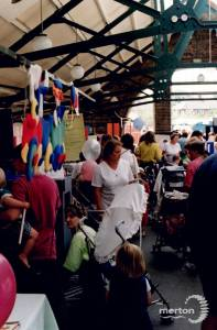 Family event at Merton Abbey Mills Craft Market
