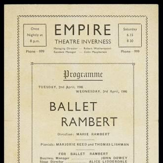 Empire Theatre, Inverness, April 1946