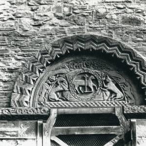 Pipe Aston church, Norman tympanum